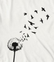 Dandelion blowing into birdsBlowing Dandelion Birds