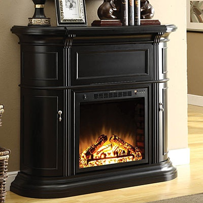 48 black media fireplace big lots snuggle up by the