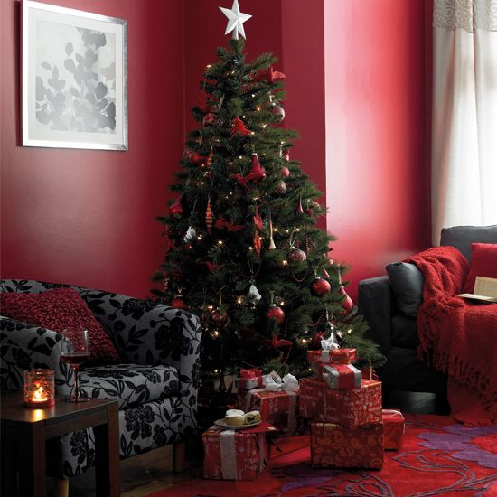 Red Christmas Living Room Favorite Places Spaces