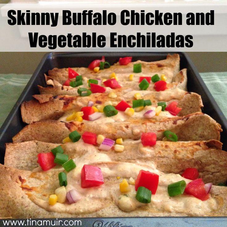 These Skinny Buffalo Chicken and Vegetable Enchiladas via @tinamuir88