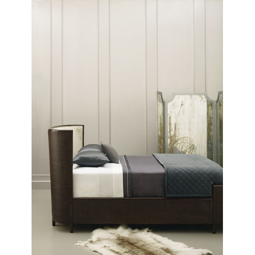 Barbara barry half moon bed less is more pinterest for Barbara barry bedroom furniture