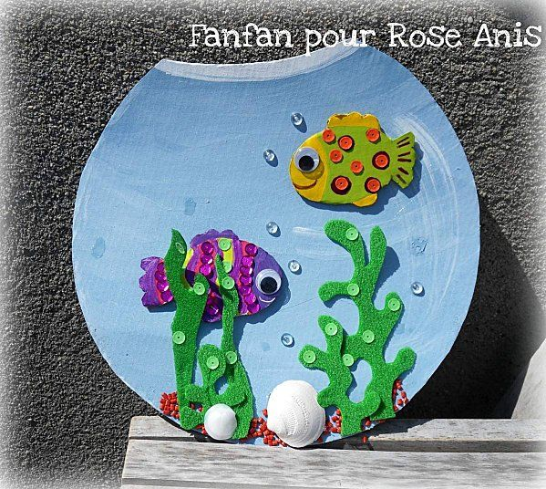 aquarium bricolage enfants printemps pinterest. Black Bedroom Furniture Sets. Home Design Ideas