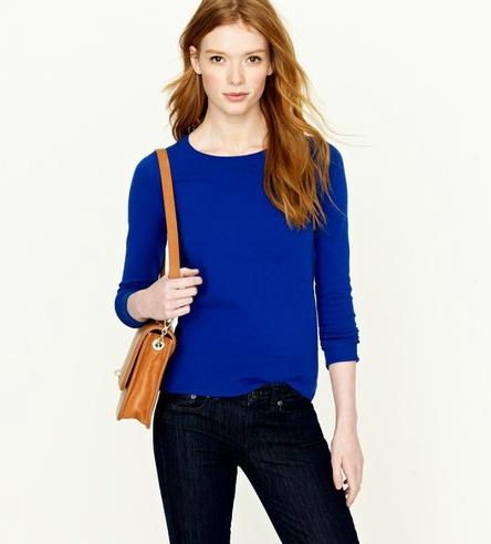 Cobalt Blue Ladies Sweater 53