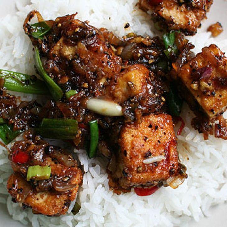 Black Pepper Tofu II Recipe | get in my tummy | Pinterest