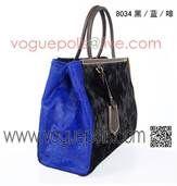 Fendi Bright Blue  Black Handbag