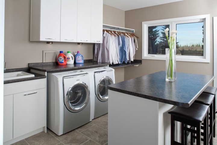 Counter top over washer and dryer The House Pinterest