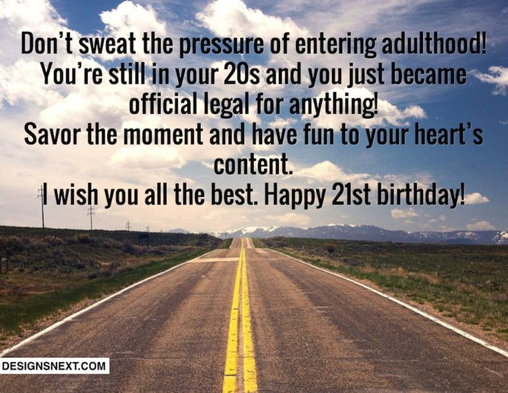 Birthday Quotes For Brother Turning 21 : St birthday wishes
