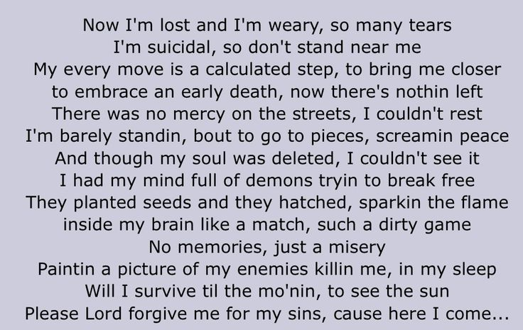 Shed so many tears original