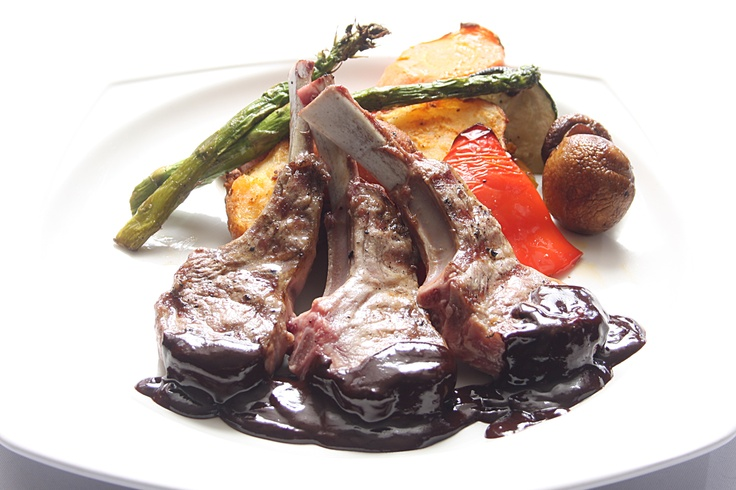 Rack of Lamb with Chocolate Port Sauce | Curious Thyme's By The Water ...