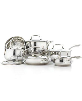 Belgique Stainless Steel Cookware, 11 Piece Set - Cookware - Kitchen ...