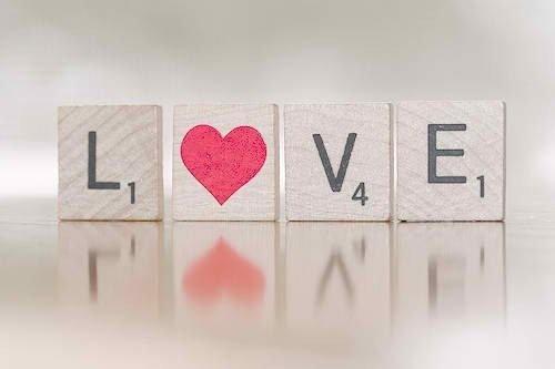 Scrabble Letter Love
