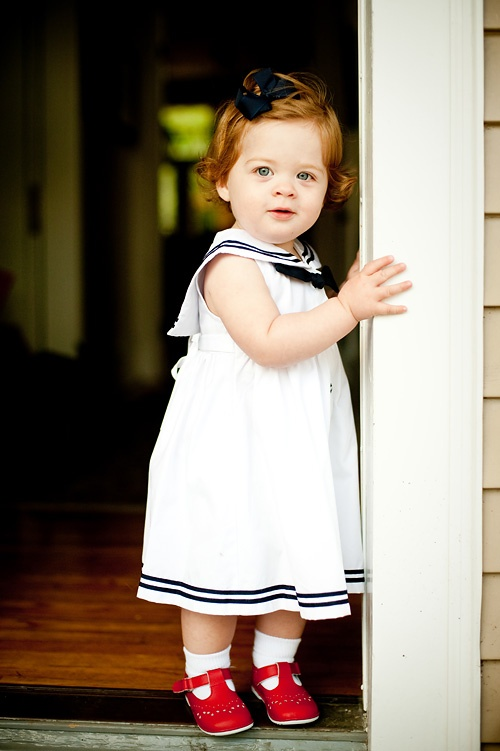 Iconic look--every little girl should have a sailor dress at some point in her life.