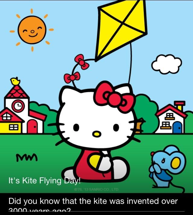 Kite Flying Day~February 8, 2013 | Hello Kitty | Pinterest
