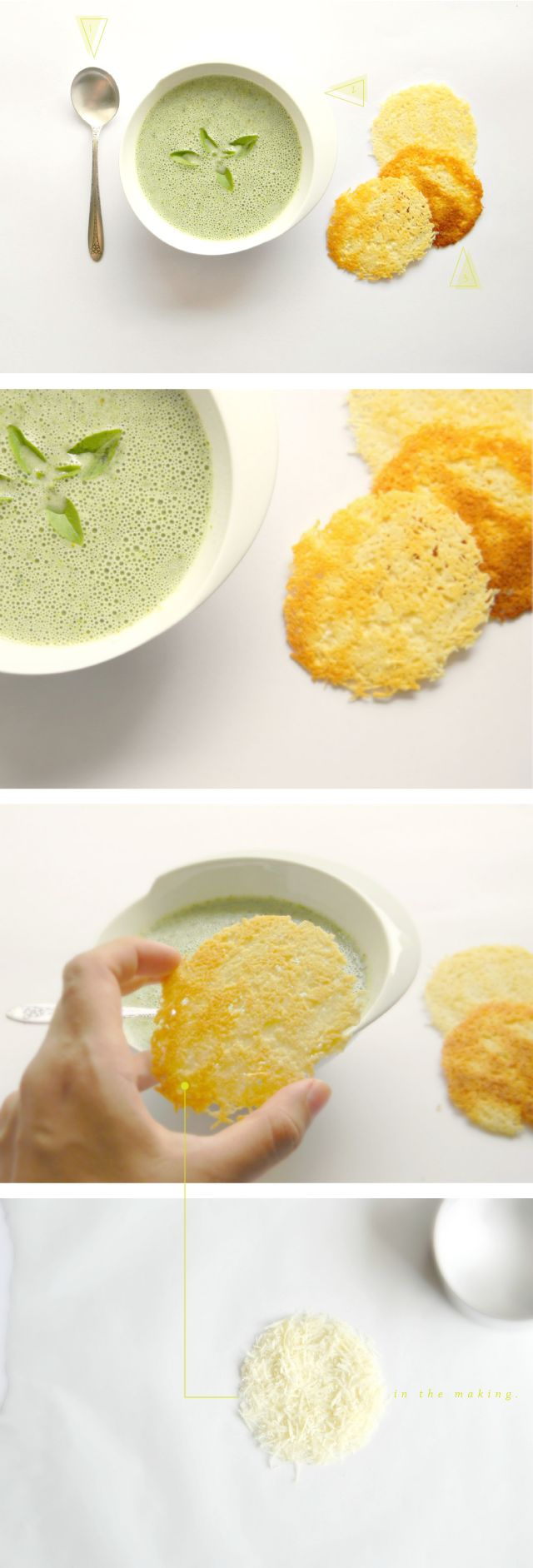 green soup/parmesan crackers.   Food   Pinterest