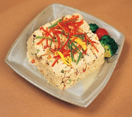 ... , Korean Dish: steamed tofu mixed with ground beef and vegetables