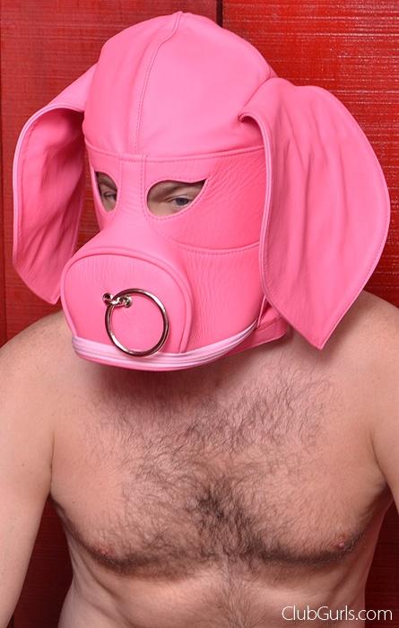 Leather Pig Slave Hood
