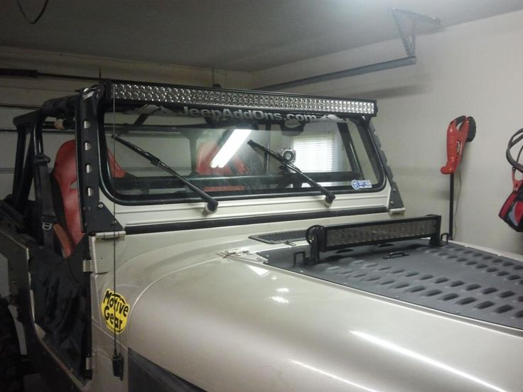hmf fabrication led light bar mounts for cj yj jeep wrangler. Black Bedroom Furniture Sets. Home Design Ideas