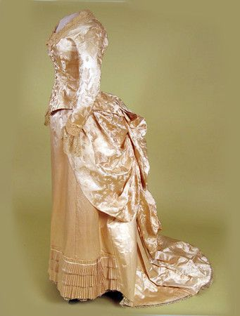 Shell Pink Silk Reception Gown, 1880s