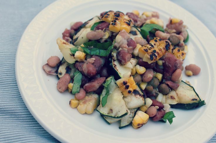 Grilled mixed bean salad | Everything salad | Pinterest
