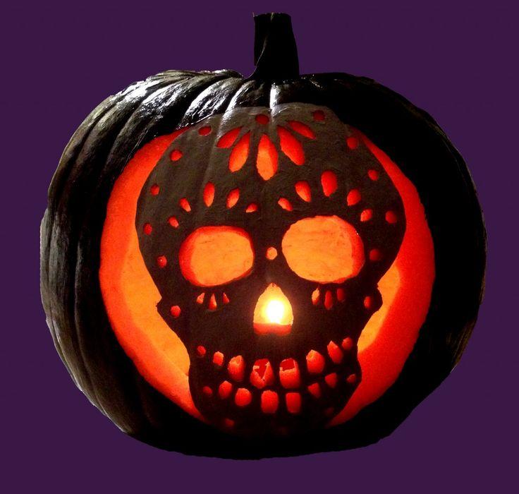 Pumpkin carving sugar skull my personal projects