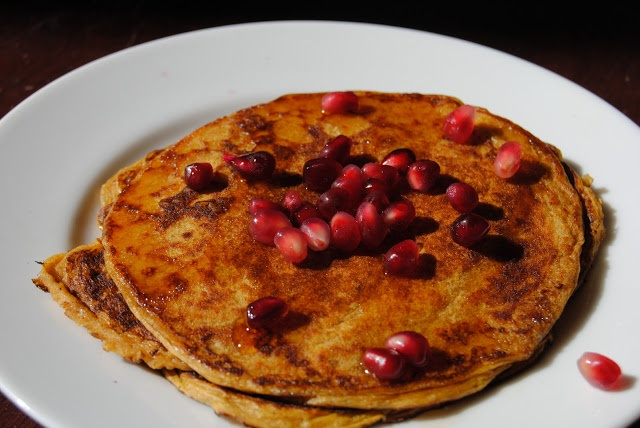 pumpkin and pomegranate pancakes | what I feel like eating | Pinterest