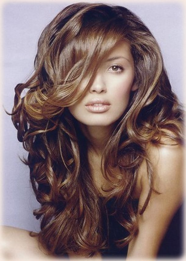 Brown curly hair with caramel highlights | beauty & hair ...