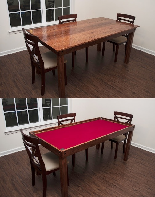 Diy gaming table clever crafty pinterest for Table plan board