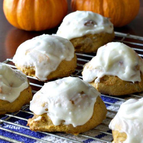 Iced Pumpkin Cookies - My Honeys Place | Yumm! | Pinterest