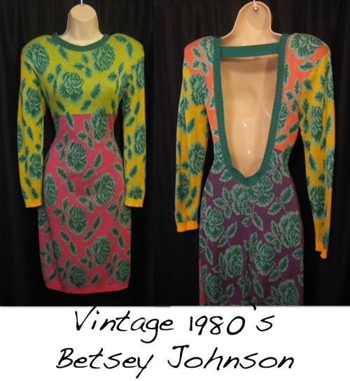 vintage, backless sweater dress