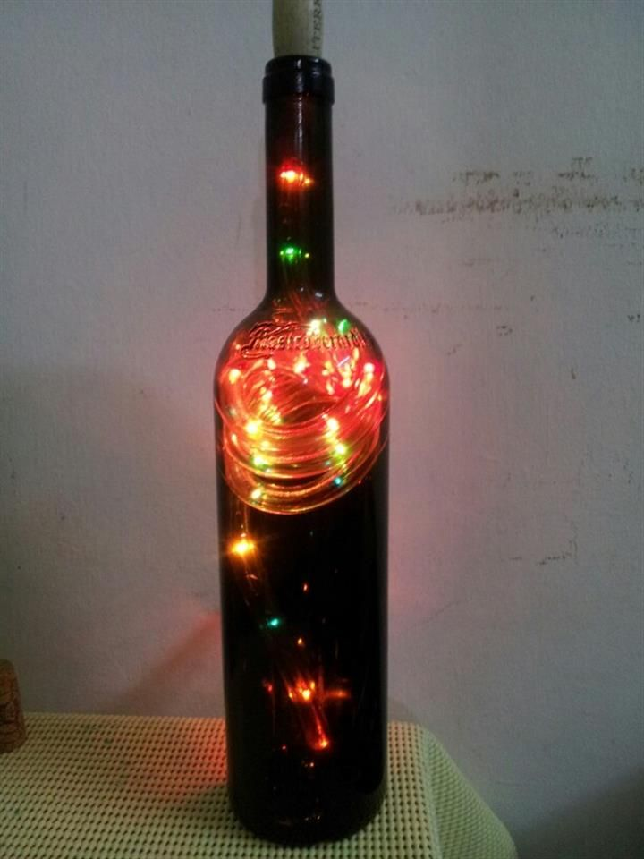 Bing Wine Bottle Crafts With Lights Wine Diy Wine