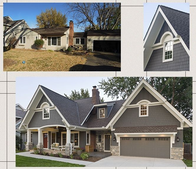 Before And After Exterior House Home All Within Pinterest