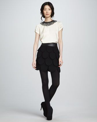 Linde Top & Cleo Petal Skirt by Milly at Neiman Marcus.