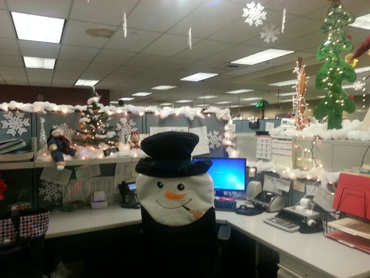 Cubicle christmas decor christmas decor pinterest for Cubicle decoration xmas