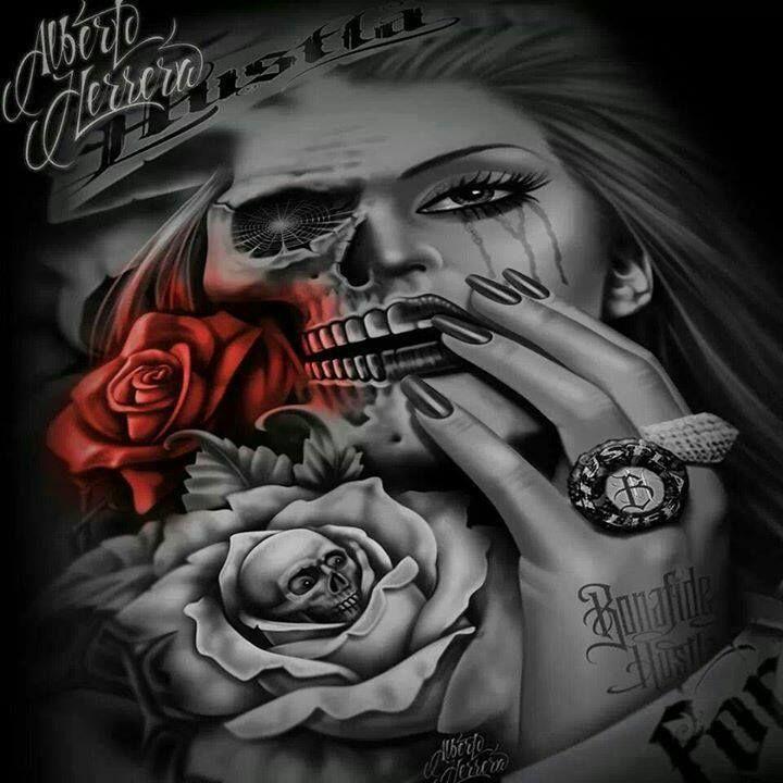 Rose Skull | Chicano / Sugarskull / Art | Pinterest