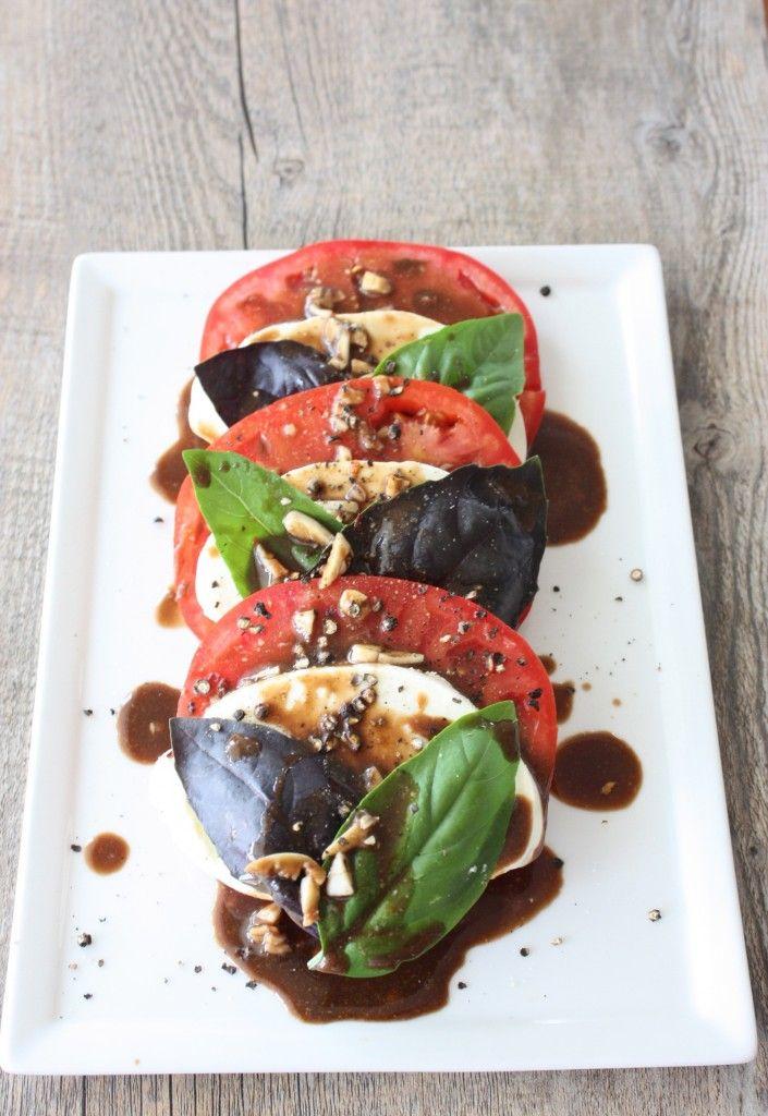 caprese salad with balsamic vinaigrette | food | Pinterest