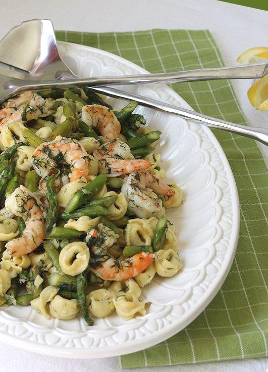Lemon-Dill Shrimp & Asparagus Tortellini Scampi - Use quinoa instead ...