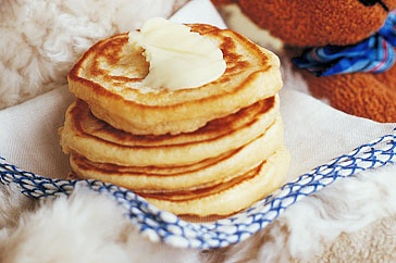 Just add your favourite fruit to these easy-to-make pikelets.
