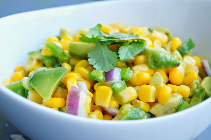 Corn and Avocado Salsa | veggies | Pinterest