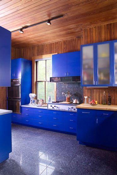 Cobalt Blue Cabinets Home Pinterest