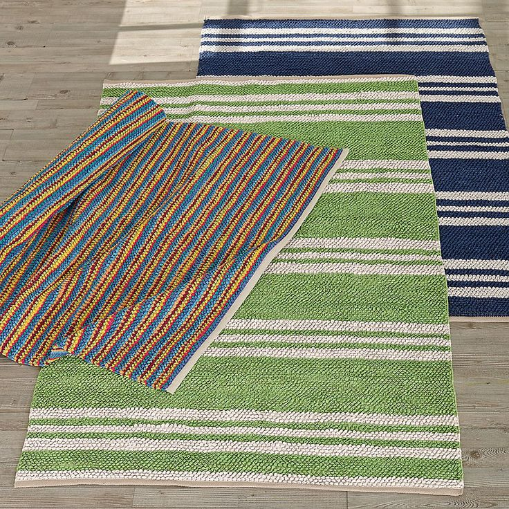 Chindi Loop Rug – Multi-Stripe