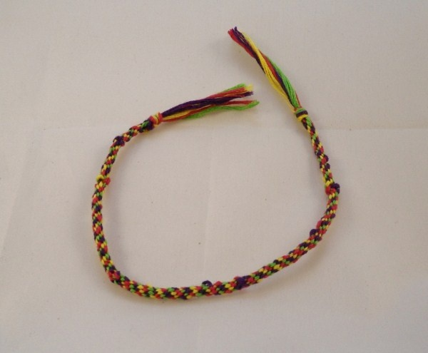 Multicolour Embroidery Thread Braided Friendship Bracelet