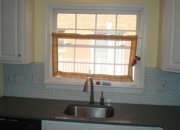 Glass Tile Backsplash Around Window Cottage Kitchen Pinterest