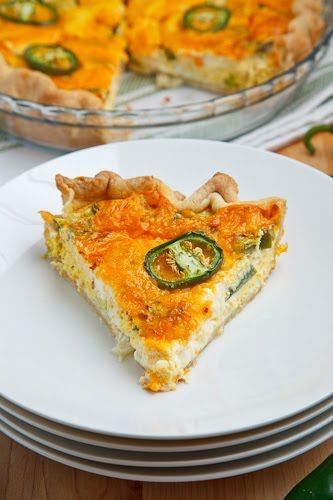 Popper Quiche A cheesy quiche with all of the flavours of jalapeno ...
