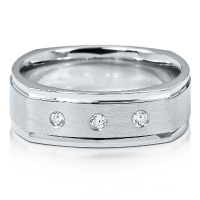 Novell® 110 ct. tw. Diamond Men's Band, 7MM available at # ...