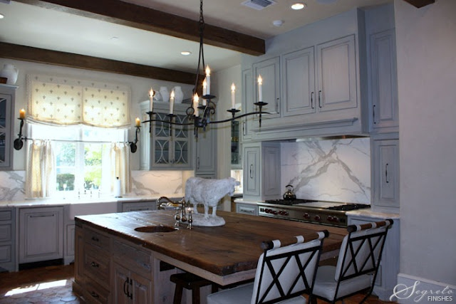 kitchen, blue stained cabinets  Kitchens  Pinterest