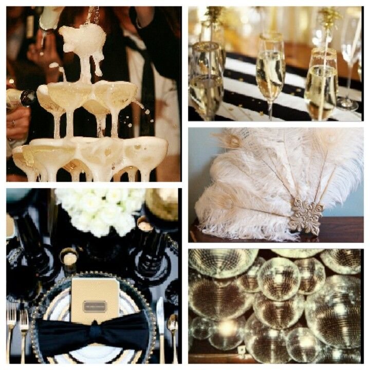 The Great Gatsby inspired Jay Gatsby 1920s themed party. Would make a great new years party or bday party.