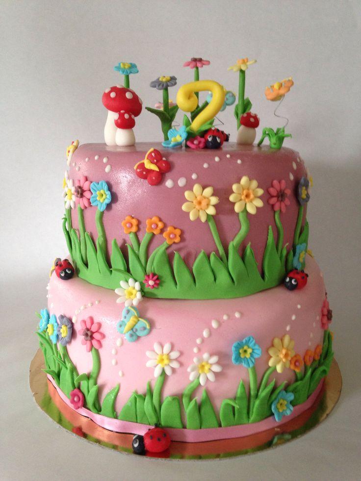 Fairy garden cake my creations pinterest for Fairy garden birthday cake designs