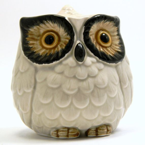 1960s Otagiri owl sugar bowl, honey pot, jam pot, etc, $19.50 ... Etsy!