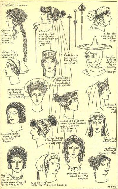 Ancient Greek Woman's Hair Styles