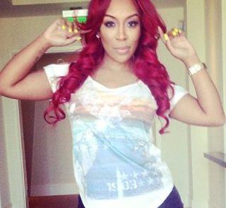K Michelle Red Hair Bun Michelle rockin the red hair | people i love | Pinterest